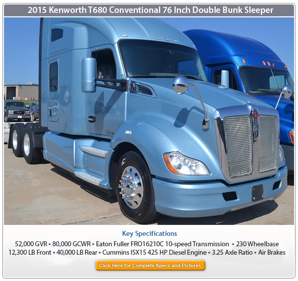 2015 Kenworth Sleeper